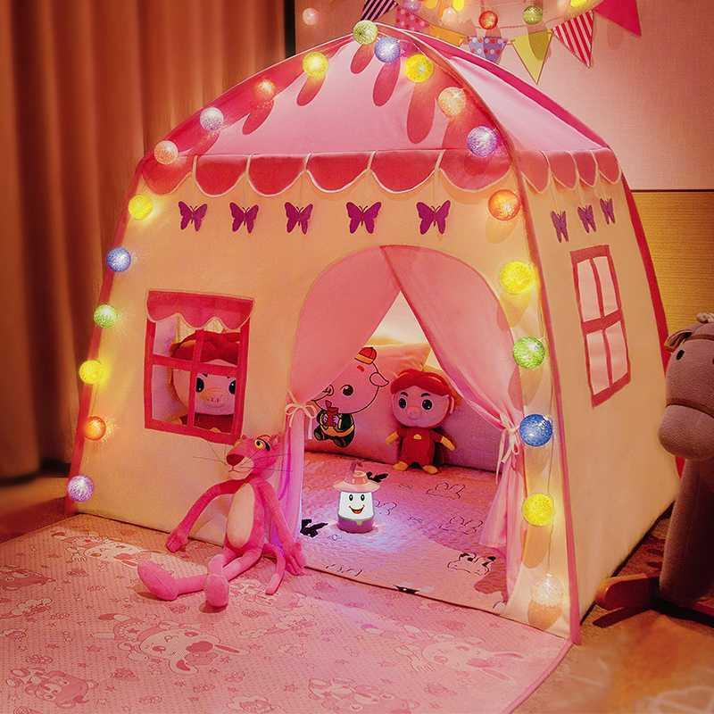 ילדי צעצועי אוהל תינוק תיאטרון נסיכה סופר גדול חדר זחילה מקורה חיצוני אוהל טירת נסיכת סלון משחק אוקיינוס כדורי