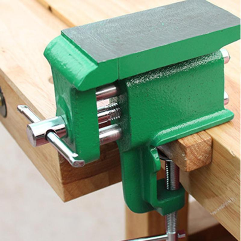 Universal Bench Vise Mini Table Screw Vise Flat Tapping Tongs Multipurpose Practical  Bench Clamp For DIY Craft Mold Fixed