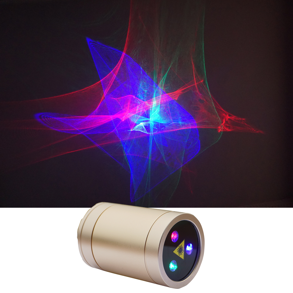 Sharelife Mini Portable RGB Aurora Effect Laser USB Projector Light 1200MA Battery For Home Party DJ Outdoor Stage Lighting DP-A