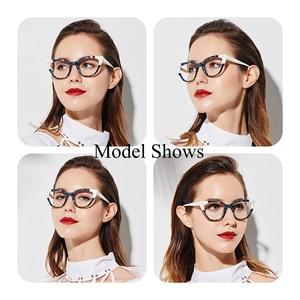 Image 2 - SASAMIA Acetate Eyeglasses Frame Women Vintage Cat Eye Glasses womens glasses Frame Spectacles Optical Frames Myopia Eyewear