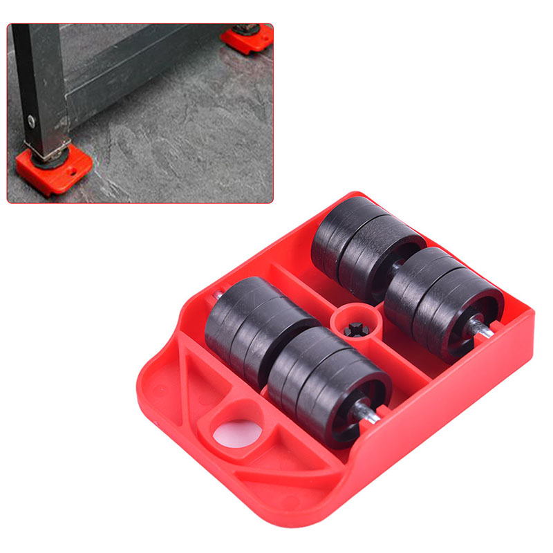 1pc Moves Furniture Tool Transport Shifter Moving Wheel Slider Remover Roller Heavy