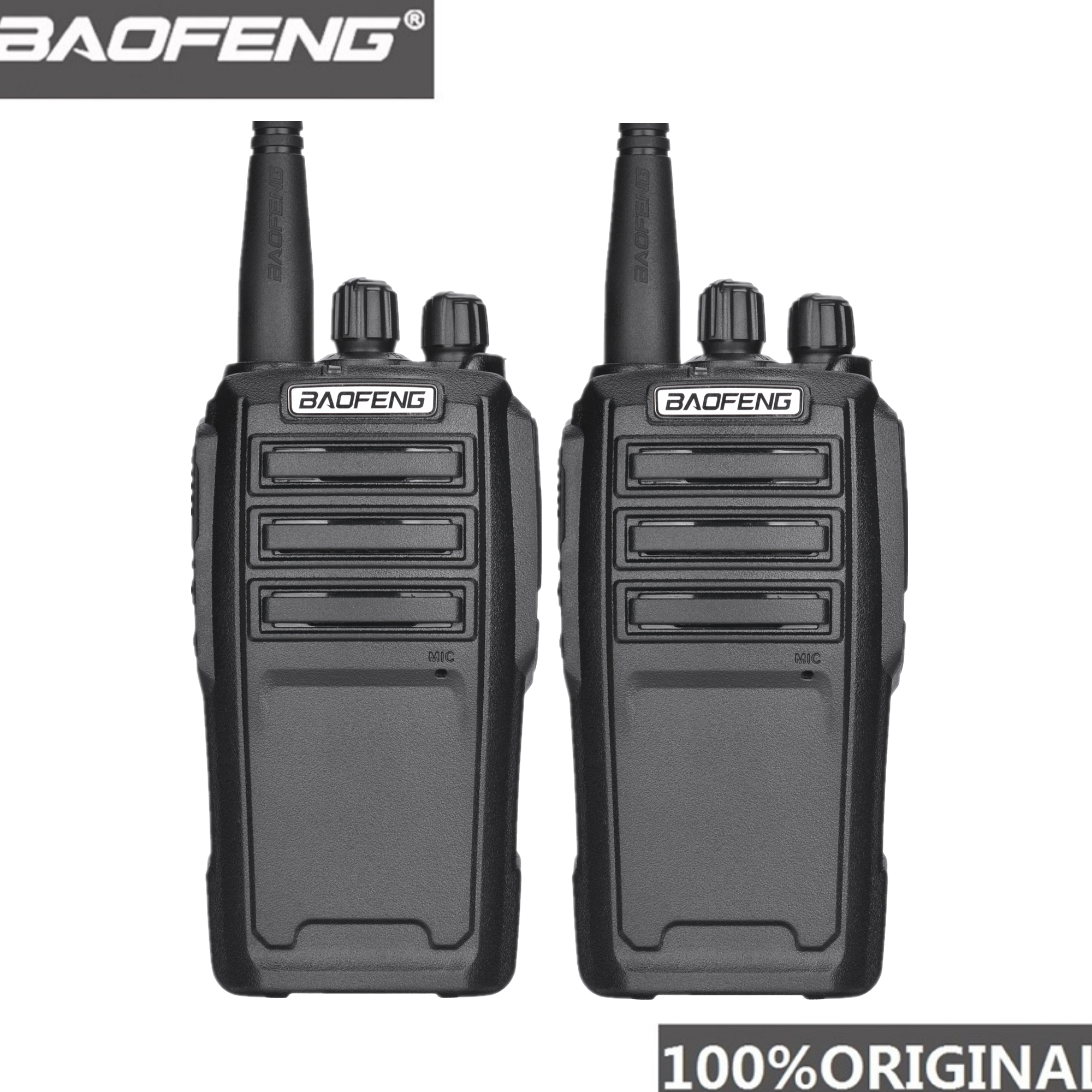 2PCS Baofeng UV-6 8W Ham Radio Security Guard Equipment Two Way Radio Encrypted Handheld Walkie Talkie Ham Radio HF Transceiver