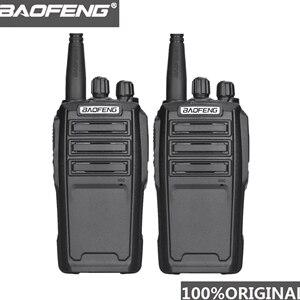 Image 1 - Baofeng UV 6 Radio de seguridad de 8W Ham, equipo de protección de Radio bidireccional, Walkie Talkie de mano cifrado Ham Radio HF transceptor, 2 uds.