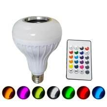 Bluetooth inteligente LED Bombilla altavoz RGB cambio de Color con Control remoto(China)