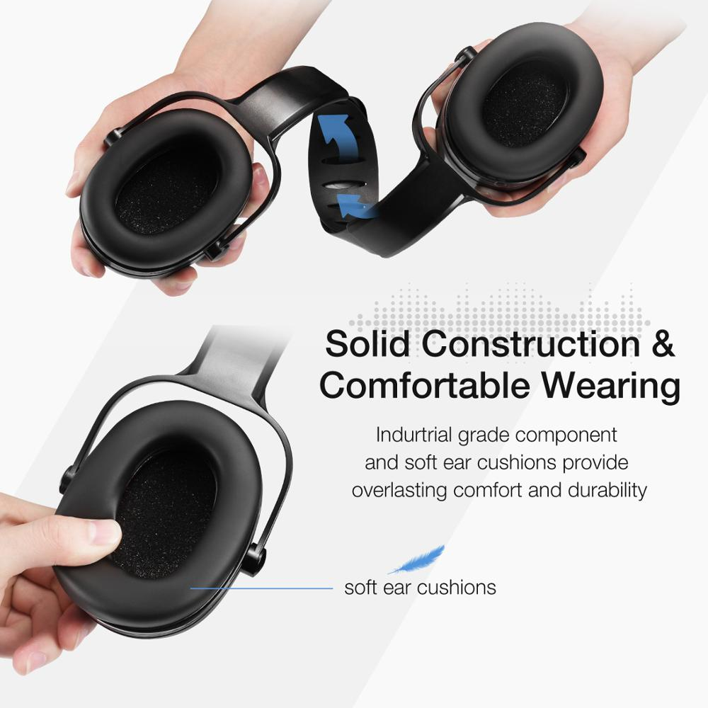 lowest price 2019 Mpow Noise Reduction Ear Earmuffs Mpow HP044 SNR36dB Hearing Protection Ear Defenders with Adjustable Headband Ear Earmuffs
