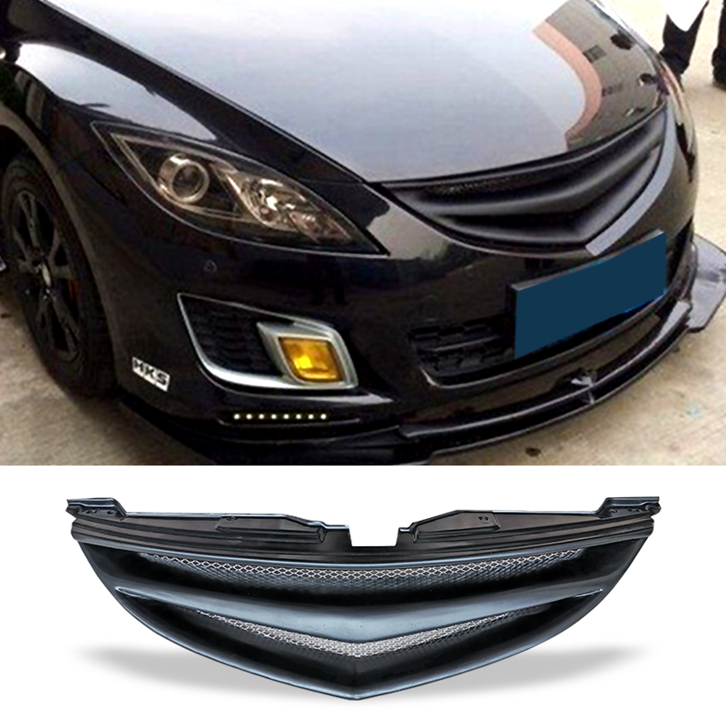 Racing Grill Bumper Carbon Surface Mesh Front Grill Decorative cover Refit Accessories For Second Generation Mazda 6 2009-2013