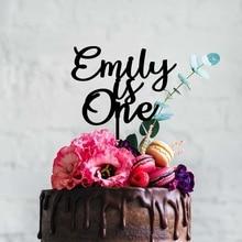 Cake-Topper Personalized Happy-Birthday Baby Name Custom Children's