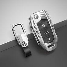 Caso chave do carro capa saco chave para skoda octavia 3 2 superb 3 2 fabia 2 3 titular estilo do carro escudo chaveiro acessórios de fibra de carbono