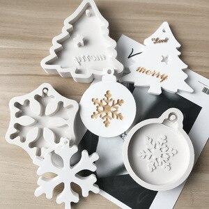 Image 1 - 3 Stijlen Kerstboom Sneeuwvlok Bellsilicone Mold Cake Decoratie Fondant Sugarcraft Gereedschap Silicone Mould Gumpaste Snoep