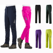 Зимние уличные женские лыжные зимние штаны мужские походные лыжные брюки флисовые термо треккинговые водонепроницаемые брюки