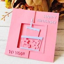 Цветы на день рождения металлические Вырубные штампы для скрапбукинга