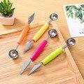 1 шт.  креативные подарки  двойная головка  Фруктовая тарелка  инструменты для резьбы  фруктовый нож  разделитель яблока  двойное использован...