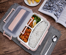 ONEUP stainless steel Lunch box Eco-friendly Wheat Straw Food container with cutlery Bento Box With Compartments Microwavable цена и фото