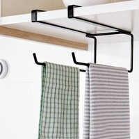 Fashion Kitchen Organizer Tissue Holder Hanging Bathroom Toilet Roll Paper Holder Towel Rack Kitchen Cabinet Door Hook Holder
