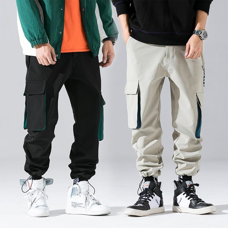 Streetwear Warm Winter Pants Men Long Hip Hop Side Pocket Cargo Pants Men Joggers Fashions 2019 Fleece Trousers For Men 3xl