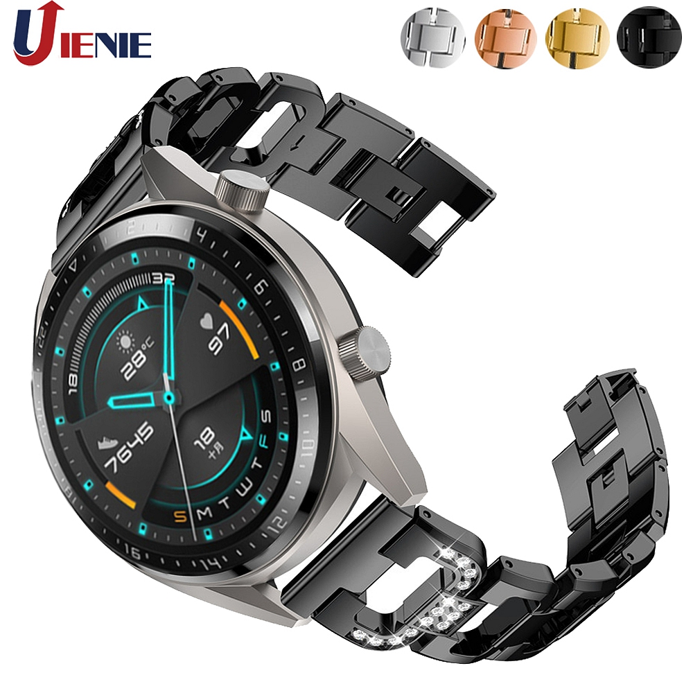 22mm Watchband Strap For Huawei GT GT2 46mm Band For Honor Magic /GT Active Wristband Alloy Bracelet For Galaxy Watch 46mm Band