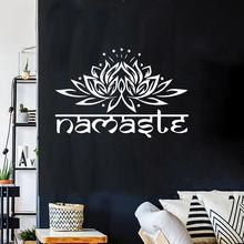 2019 new fashion Indian Religion Namaste Lotus Living Room Bedroom Wallpapers Decals Home Decors  & Design stickers