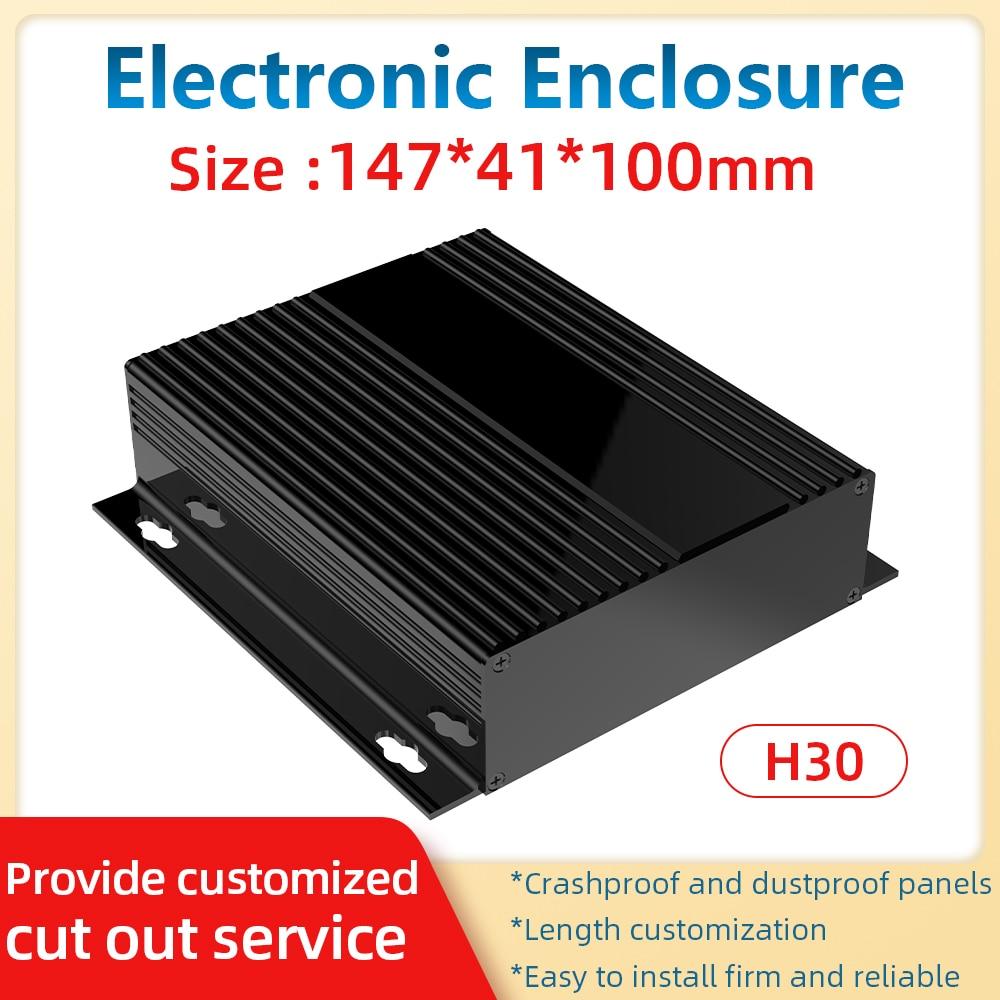 Fabricação elétrica enclosrue oem odm personalizado batterie preto caixa de extrusão perfis chassi h30a 147*41