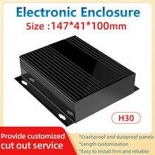 Herstellung Elektrische Enclosrue OEM ODM Angepasst Batterie Schwarz Box Extrusion Profile Chassis H30A 147*41