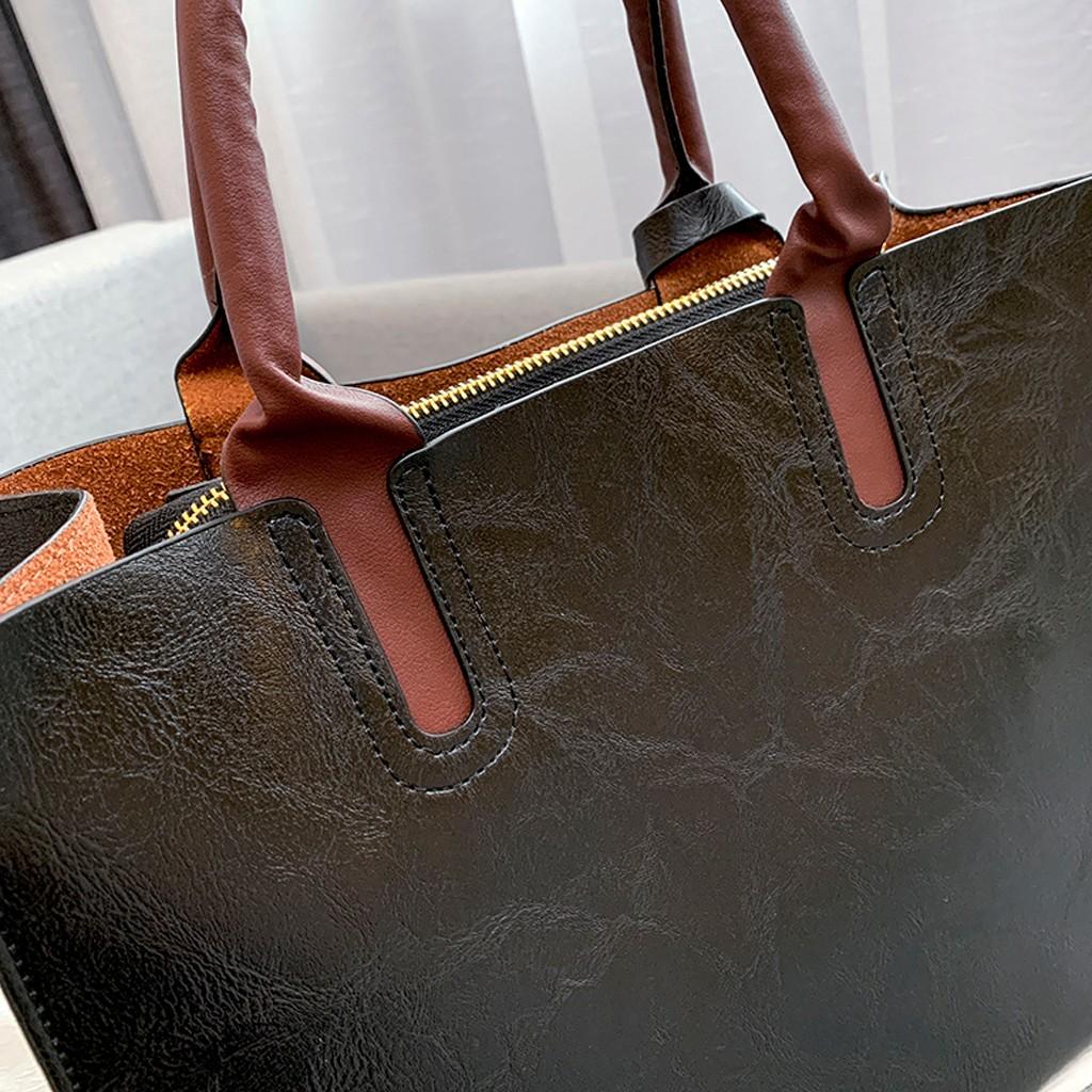 Ensemble sacs 3 pièces mode en cuir PU dames sac à main 86