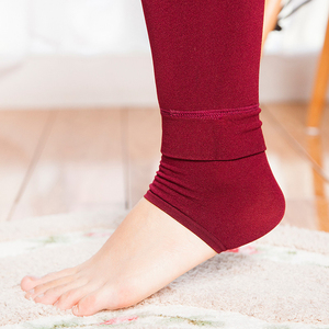 Image 5 - CHLEISURE S XL 8 צבעים חורף חותלות נשים של חם חותלות גבוהה מותן עבה קטיפה צועד מוצק כל התאמה חותלות נשים