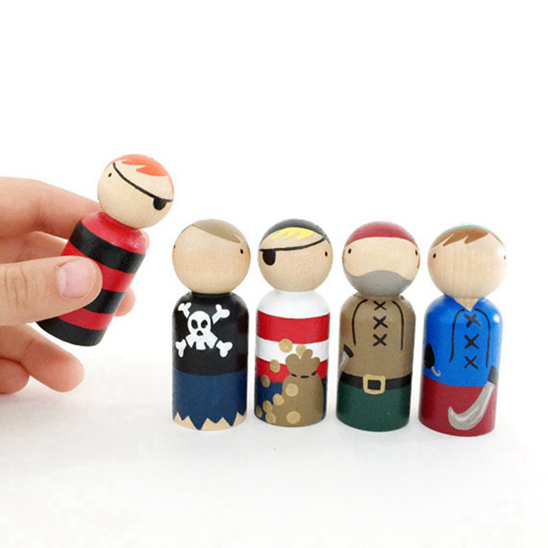 10pc 35mm-65mm Wooden Doll DIY Handmade Wood Peg Doll Wooden Blank Unfinished For Kid Boy Girl Mini Doll Baby Products Gifts Toy