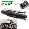 TTP универсальная выхлопная труба для мотоцикла  Модифицированная мотоциклетная глушитель  глушитель  винтажная задняя выхлопная труба 45 5 с...
