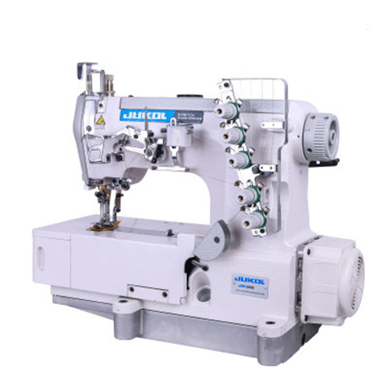 Fully Automatic Sewing Machine High Speed Stretch Direct Drive Three Needles five lines Industry Sewing Machine cuff Neckline