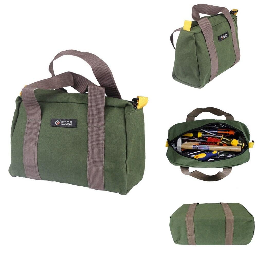 12/'/'-16/'/' Portable Canvas Waterproof Storage Hand Tool Metal Parts Bag Organizer