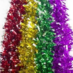 1PC Pop 2M Christmas Garland Green Xmas Bar Tops Ribbon Christmas Tree Decorations Ornament Cane Tinsel New Year Party Navidad 4
