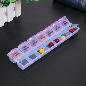 Image 4 - 14/7 izgaralar 7 gün haftalık hap durumda ilaç Tablet dağıtıcı organizatör hap kutusu bölücüler hap depolama organizatör konteyner