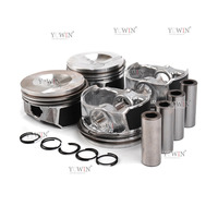 4x EA888 Engine Pistons & Rings 82.5mm Diameter 21mm For VW GTI Passat Audi A3 2.0 TFSI Gas Pressure 06H 107 065 AM