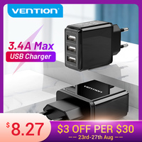 Vention-carregador usb para celular, adaptador para iphone, xs, 11, 8, samsung, huawei mate 30, xiaomi, carregador rápido de parede