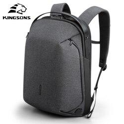 Kingsons 2020 nouveau haut de gamme homme sac à dos Fit 15 pouces ordinateur portable USB recharge multi-couche espace voyage étanche Anti-vol Mochila