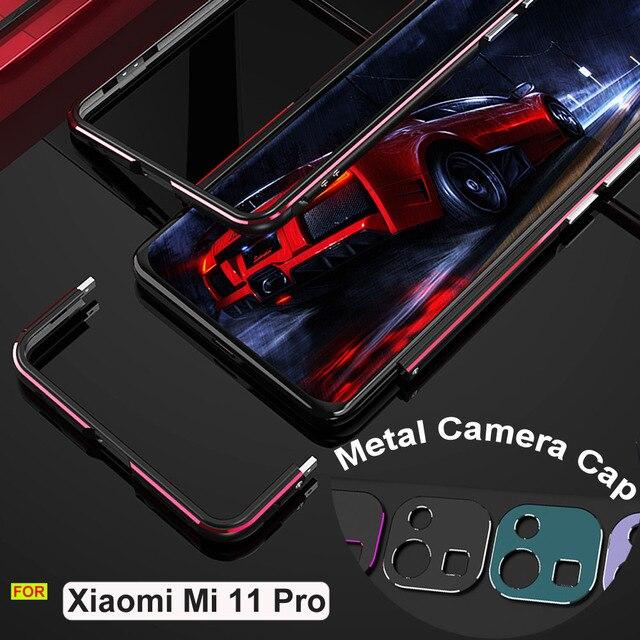 Dla Xiaomi Mi 11 Pro Case luksusowa oryginalna aluminiowa metalowa obudowa zderzaka Mi 11 Pro pokrywa odporna na wstrząsy rama + futerał na aparat ochronny