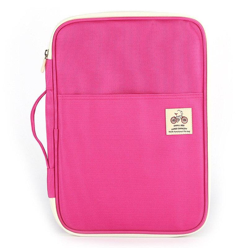 Single-layer Box Type Document Storage Handbag Men And Women Waterproof Travel Briefcase Business Notebook Bag