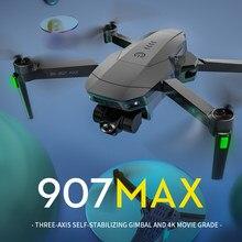 Fij sg907 max 3 eixos cardan estabilizador 4k câmera dron motor sem escova sg907pro 5g wifi gps câmera dupla dobrável quadcopter zangão