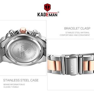Image 3 - KADEMAN Luxury Brand Ladies Watch Fashion 3ATM Waterproof Quartz Watch For Female With Stainless Steel Belt Bayan Kol Saati 836