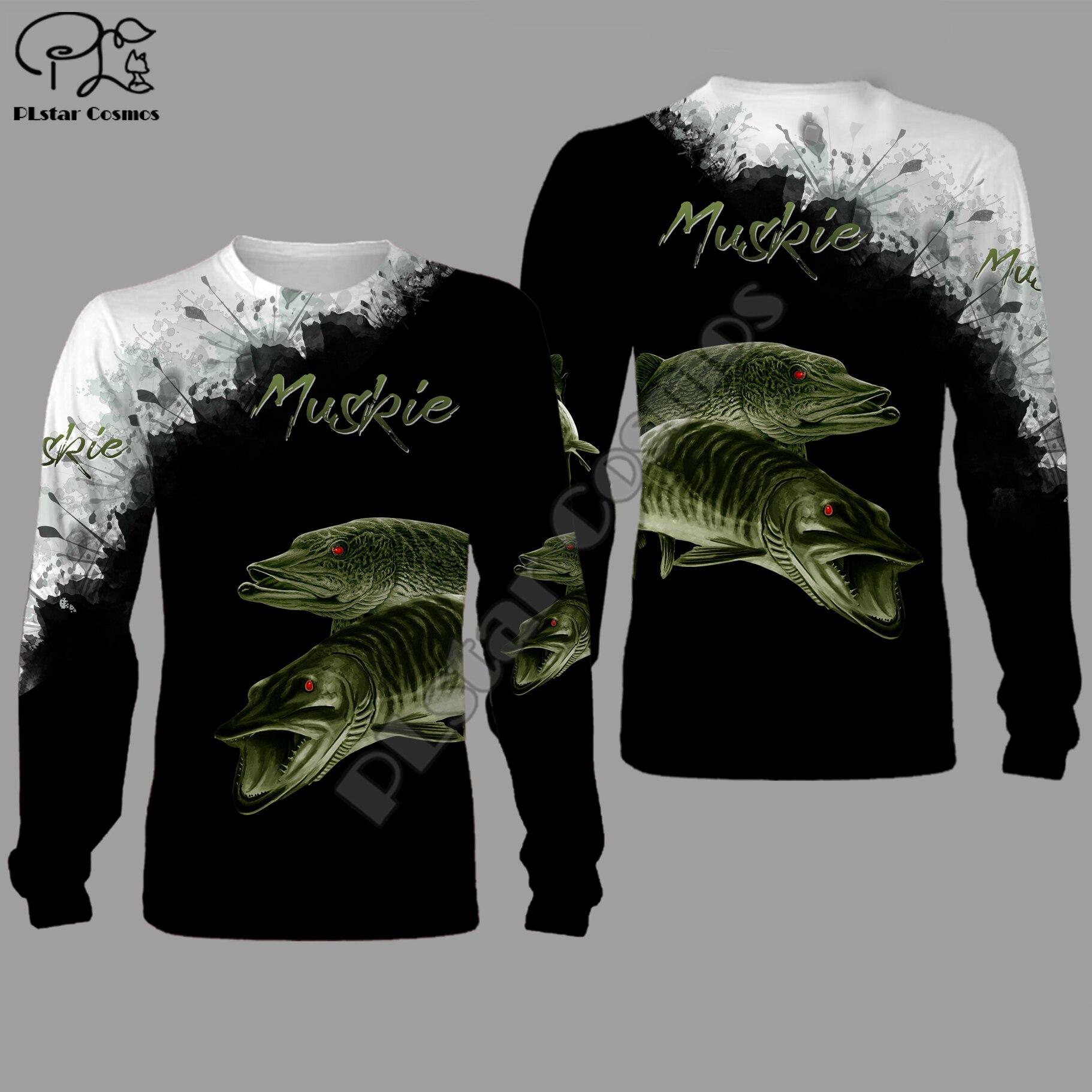 Muskie Fishing 3d All Over Printed Unisex Hoodies Harajuku Fashion Casual Hooded Sweatshirt Zip Hoodies