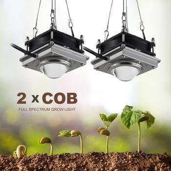 150W COB oświetlenie LED do uprawy kryty lampa fito dla roślin pełnozakresowe Led wzrostu lampa lampy do hodowli roślin pudełko W kształcie namiotu u nas państwo lampy dla domu rośliny kwiaty tanie i dobre opinie greensindoor CN (pochodzenie) ROHS Aluminum Led grow light 9 5cm Aluminium Full spectrum Żarówki led 85-265 v Rosną światła