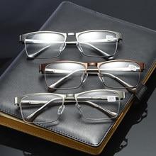 Metade Armação de Metal Do Vintage Óculos de Leitura Bifocal óculos de Ver de Perto E de Longe a Hipermetropia Óculos De Dioptria + 1.0 + 1.5 + 2.0 + 2.5 + 3.0 + 3.5 4.0