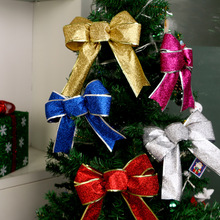 1Pcs Creative Glitter Bow Christmas Ornament Party Supplies For Tree New Year Home Decoration