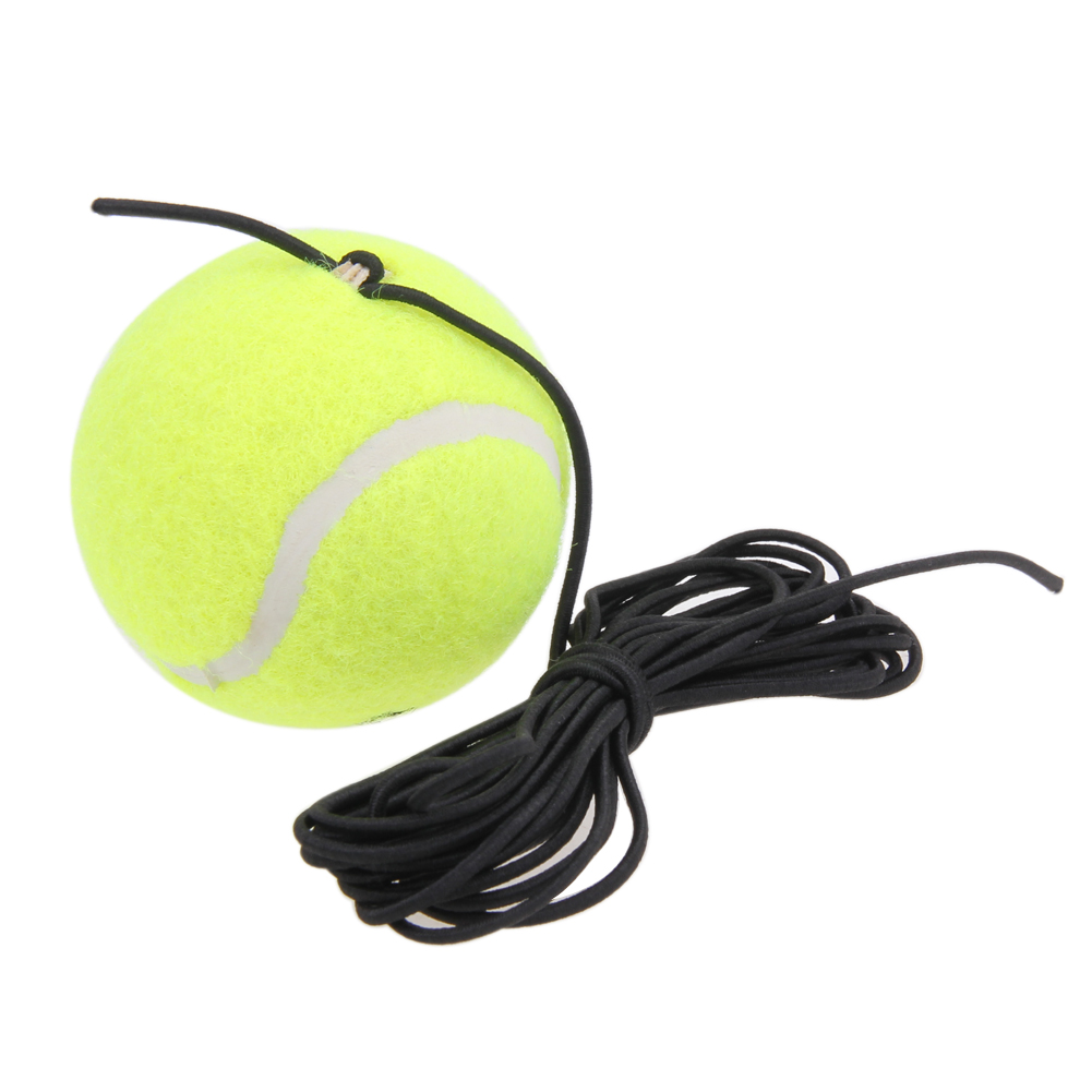 Racquet Sports Portable Tennis Trainer Replacement Tennis Ball With String Rubber Woolen Training Tennis Ball With Elastic Rope