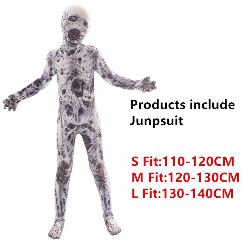 Хэллоуин страшные костюмы для детей демон, дьявол вариант клоун 3D принт Костюм Скелета в китайском стиле Карнавальная одежда для вечеринки - Цвет: Style2