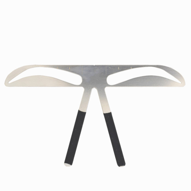 1PC Fashion DIY Metal Eyebrow Ruler Makeup Shaping Position MeasureTools Eyebrow Stencils Beauty Balance Tattoo Stencil Template