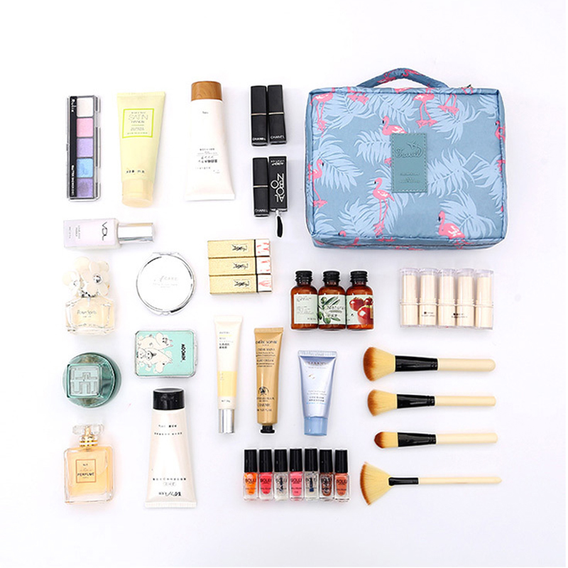 FUDEAM Polyester Multifunction Women Travel Storage Bag Toiletries Organize Cosmetic Bag Portable Female Storage Make Up Cases