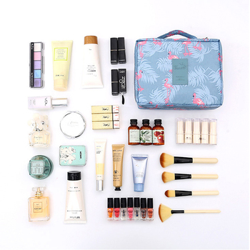 FUDEAM Polyester Multifunction Women Travel Storage Bag Toiletries Organize Cosmetic Portable Female Make Up Cases - discount item  36% OFF Special Purpose Bags