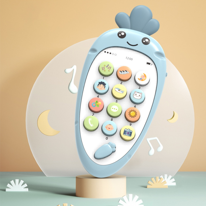 New Toy Mobile Phone Soft Plastic Early Education Puzzle Bilingual Infant Safety Can Bite Multi-Function