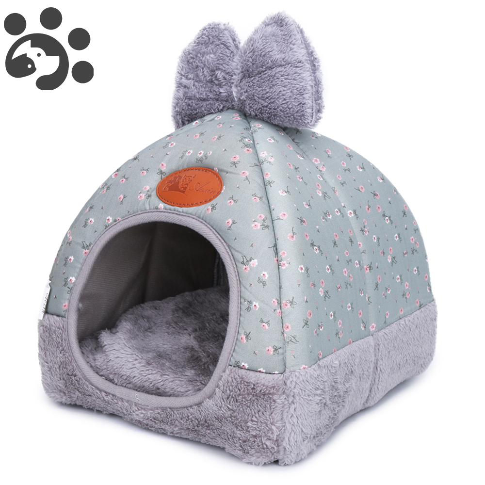 Pet Bed For Dog House Flannel Dogs Bed Kennel For Small Medium Dogs Winter Home Pets Dog Warming Mat Sofa Nest Puppy Bed For Cat