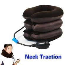 Inflatable Neck Cervical Vertebra Traction Soft Brace Device Treatment for Headache Head Back Shoulder Health Care